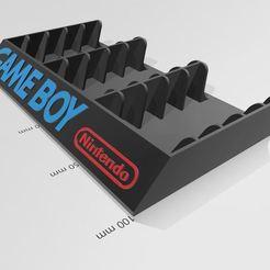 game boy 15.JPG Télécharger fichier STL support jeux game boy • Objet pour imprimante 3D, dderaedt