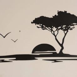 Download 3D printing designs sun tree sticker, dderaedt