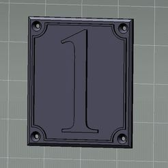 Download 3D printer designs House number, dderaedt