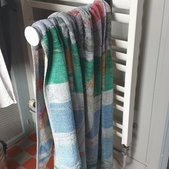 porte serviette 3.jpg Download STL file Towel rail radiator towel rail holder • 3D printable object, dderaedt