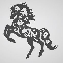 Download 3D printing templates horse horse stickers, dderaedt