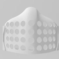 dessous masque 81 118 1.JPG Download STL file ergonomic underside mask • 3D printable object, dderaedt