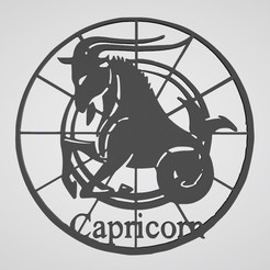 capricorne.JPG Download STL file Capricorn wall decoration • Design to 3D print, dderaedt