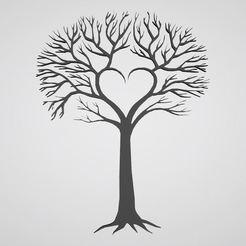 Descargar diseños 3D árbol árbol árbol árbol etiqueta adhesiva, dderaedt