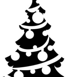 sapin inv.jpg Télécharger fichier STL pochoir de Noël  Christmas stencil • Design pour impression 3D, dderaedt