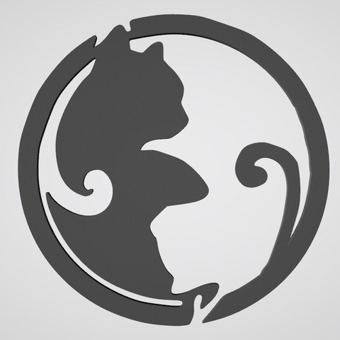 Wall decoration cat yin yang yang