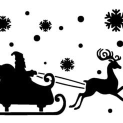 chariot inv.jpg Télécharger fichier STL pochoir de Noël  série 2 Christmas stencil • Design pour imprimante 3D, dderaedt
