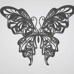 Download STL Butterfly wall decoration, dderaedt