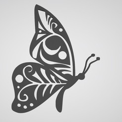 Download STL Butterfly wall decoration 4, dderaedt