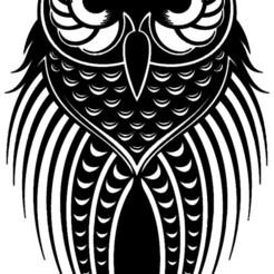 hibou 10.jpg Download STL file owl stickers • 3D printing model, dderaedt