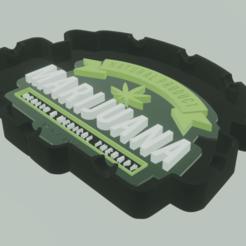 Marijuana01.png Download STL file Marijuana Ashtray • Model to 3D print, amadorcin