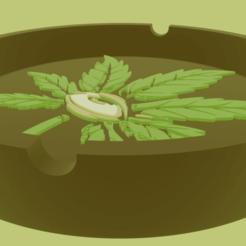 MarijuanaEye.png Download STL file Ashtray Marijuana Ashtray Eye • 3D printer template, amadorcin