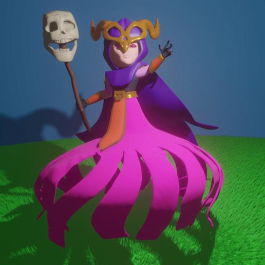 superbruja.png Download STL file Super Witch • 3D print template, amadorcin