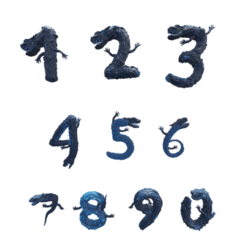 numeros01.png Download STL file Dragon Numbers Ornamental Decoration • Model to 3D print, amadorcin