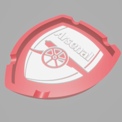 ArsenalAshtray.png Download STL file Ashtray Arsenal FC • 3D printable model, amadorcin