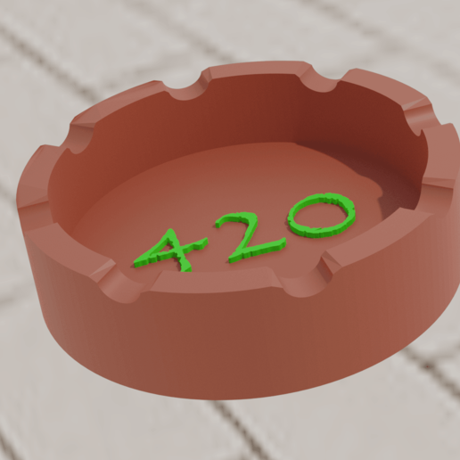 cenicero42002.png Download free STL file Ashtray 420 • Template to 3D print, amadorcin