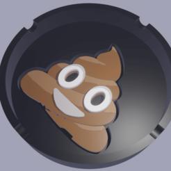 Poop01.png Download STL file Ashtray Poop Ashtray • 3D printing model, amadorcin