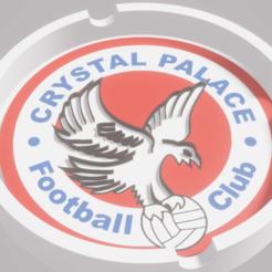 KristalPalaceFC.png Download STL file Crystal Palace FC Ashtray • 3D print design, amadorcin