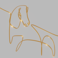 CaballoPicasso.png Download STL file Picasso Pendants Style Horse • Design to 3D print, amadorcin