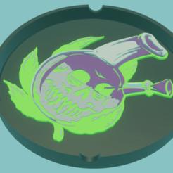BongSkull.png Download STL file Ashtray BongSkull Ashtray • 3D printer model, amadorcin