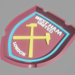WestHam.png Download STL file Westham Ashtray • 3D printable template, amadorcin