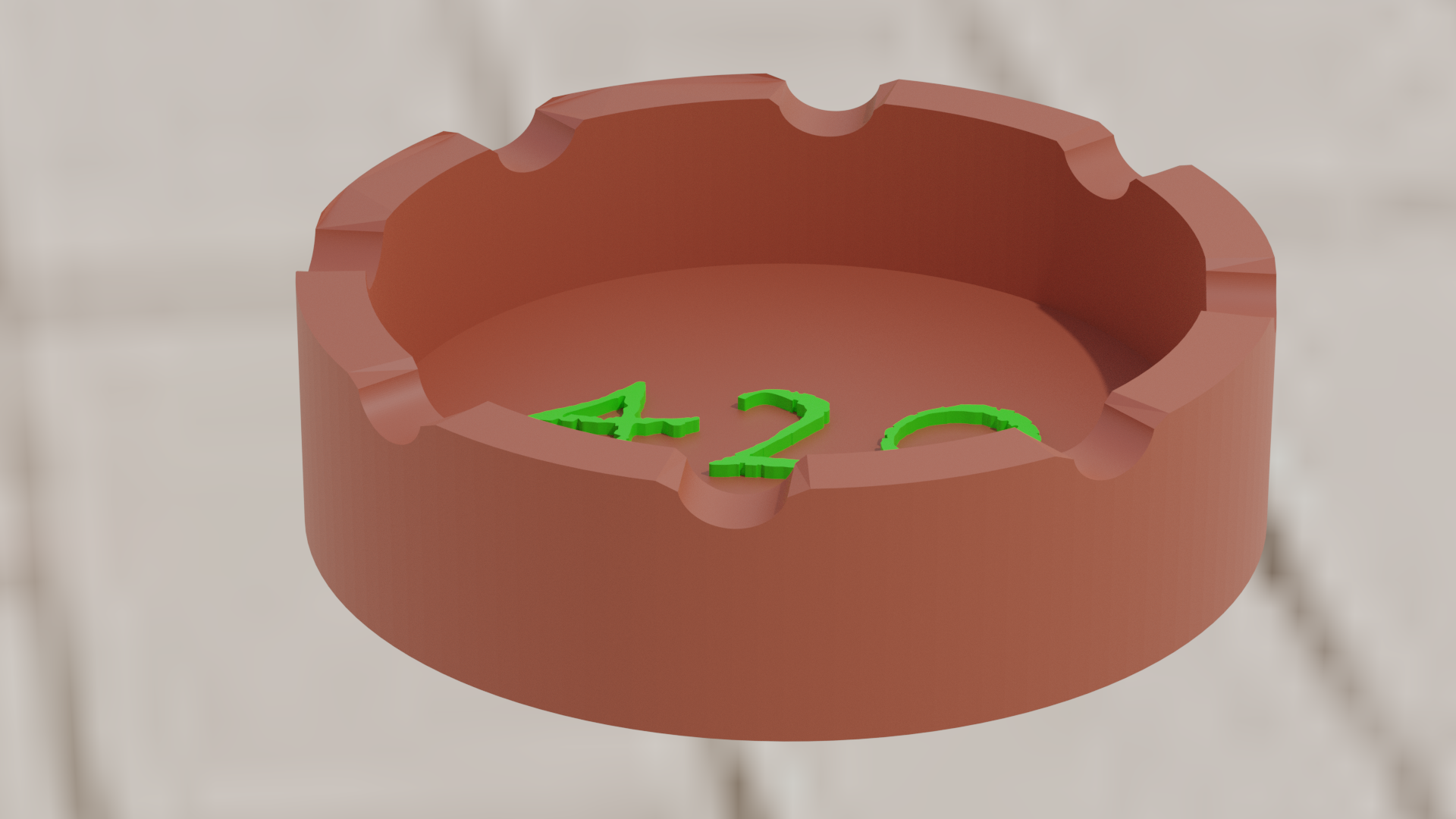 cenicero42001.png Download free STL file Ashtray 420 • Template to 3D print, amadorcin