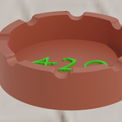 Download free 3D printer files Ashtray 420, amadorcin