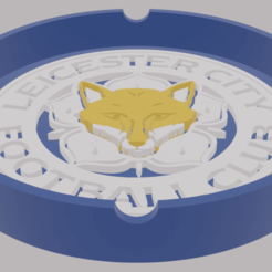 LeicesterAshtray.png Download STL file Leicester FC Ashtray • 3D printer model, amadorcin