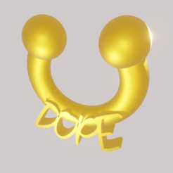 Dope.png Télécharger fichier STL NoseRing Dope Nose Ring • Modèle imprimable en 3D, amadorcin