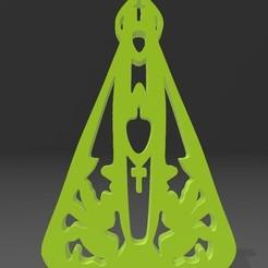 Screenshot_3.jpg Download STL file Nossa Senhora - Our Lady Stencil Image • 3D printing model, evandromira