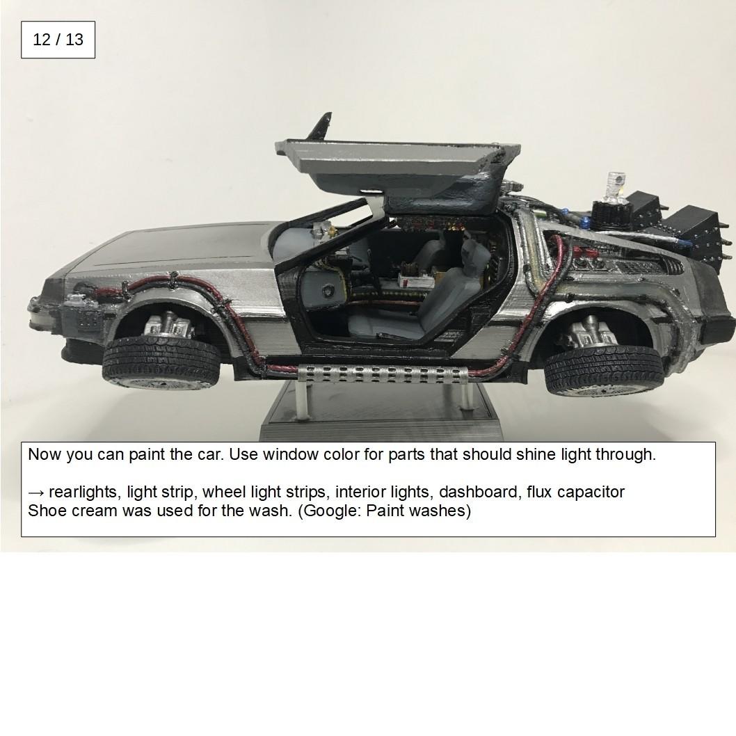 20.jpg Download free STL file DIY DeLorean Time Machine with lights!! • 3D printer model, OneIdMONstr