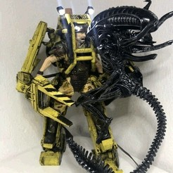 Descargar Modelos 3D para imprimir gratis DIY Alien vs. Power Loader lucha con luces LED, OneIdMONstr