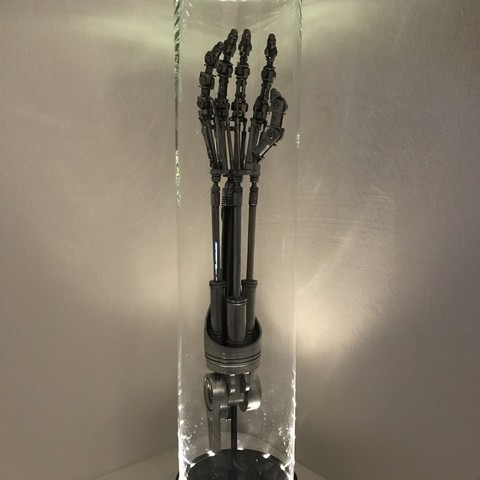 Download free STL DIY Life-Size Terminator Arm Lamp, OneIdMONstr