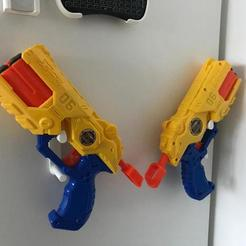 Download free 3D printing files Nerf Gun Wall Mount, OneIdMONstr