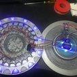 Free 3D printer model UFO Abduction Lamp with blinking lights, OneIdMONstr