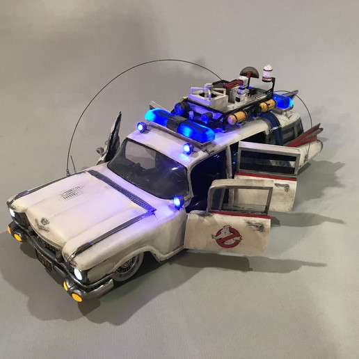 IMG_4405.JPG Download STL file Ecto-1 with lights and sound! With detailed free instruction! • 3D printing model, OneIdMONstr