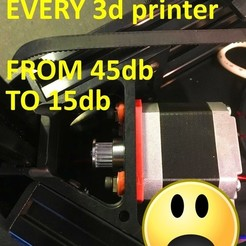 Download free 3D printing templates Silent Mod for EVERY 3d Printer !MUST HAVE! (nema damper), OneIdMONstr