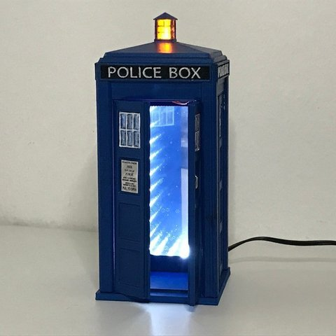 Free 3D printer files Infinity Mirror Tardis, OneIdMONstr