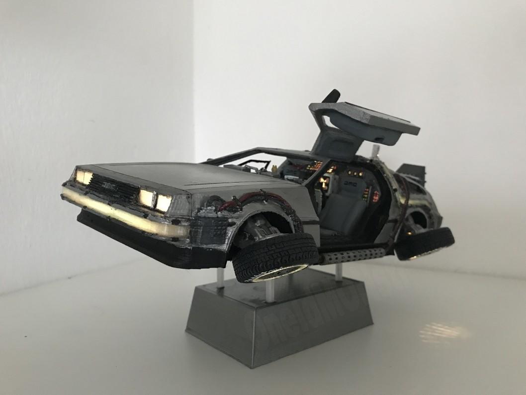 1.jpg Download free STL file DIY DeLorean Time Machine with lights!! • 3D printer model, OneIdMONstr