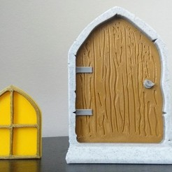 Download free 3D printer templates Enchanted Fairy Door & Window, 3DME
