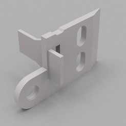 Download free 3D printing models Ikea curtain panel rail bracket, 3DME
