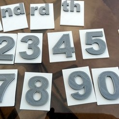 Download free STL file Single numbers on back-plate. • 3D printing object, 3DME