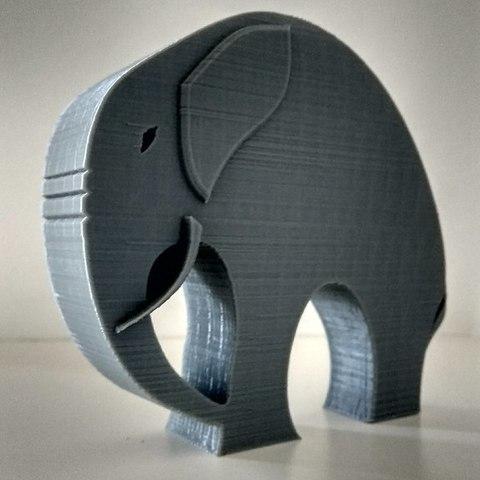 4bd01aa69c4a773cf0432196cccf9c9c_display_large.jpg Télécharger fichier STL gratuit Élégant éléphant • Objet pour imprimante 3D, 3DME