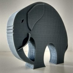 Free STL Stylish Elephant, 3DME