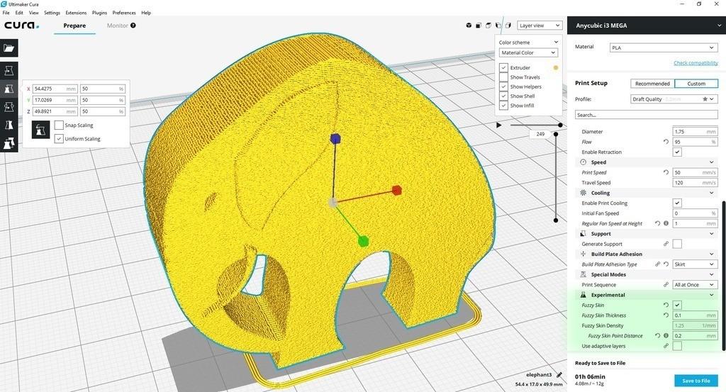 bb3688a859c3c8a5a4889bc7841db36a_display_large.jpg Télécharger fichier STL gratuit Élégant éléphant • Objet pour imprimante 3D, 3DME