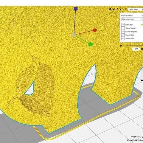 1a3d54d7ec2883006d458428f482728c_display_large.jpg Télécharger fichier STL gratuit Élégant éléphant • Objet pour imprimante 3D, 3DME