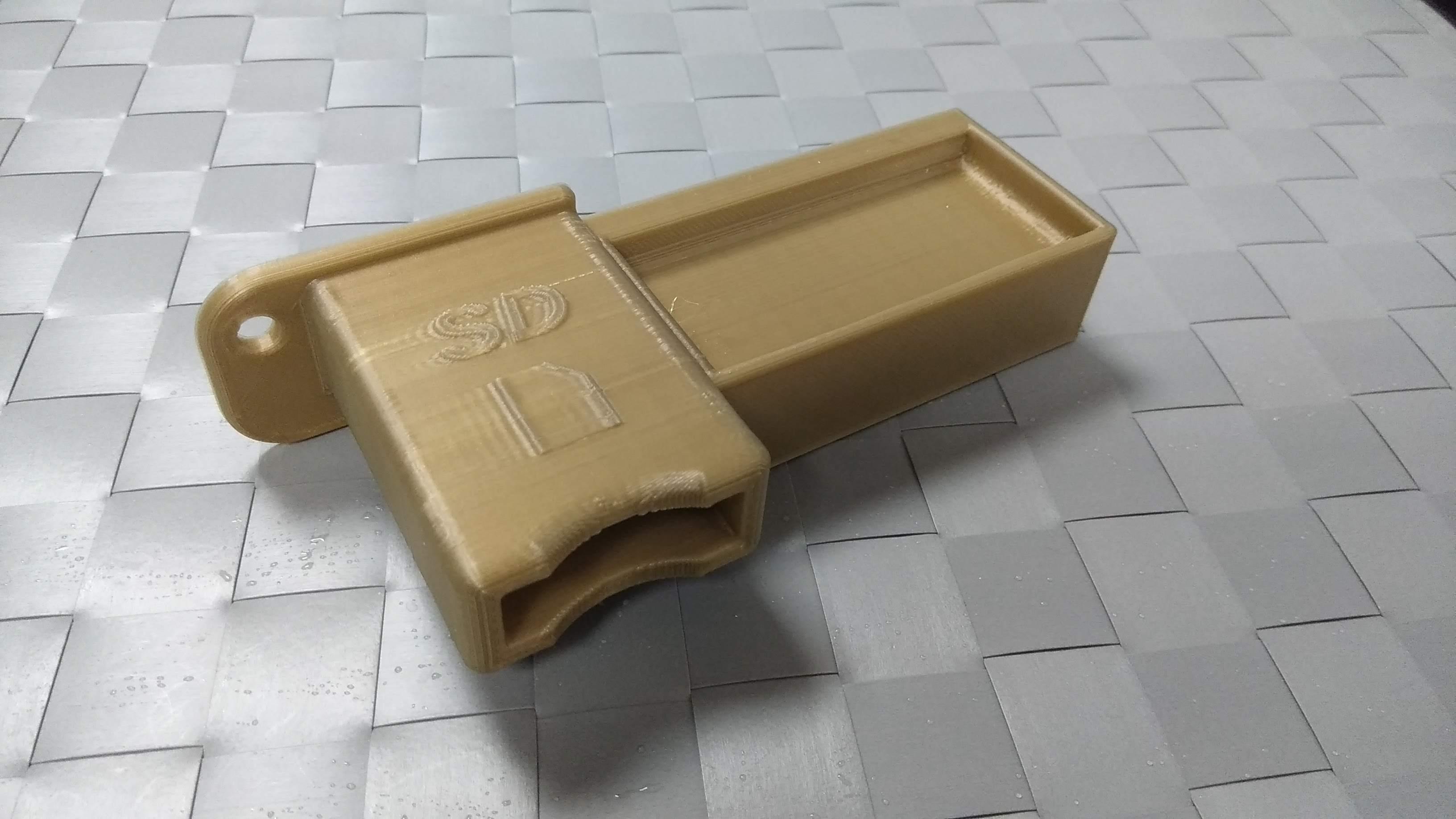 IMG_20181022_192024.jpg Download free STL file Ender 3 MicroSD to SD bracket • 3D printing template, 3DME