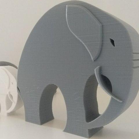 a771f4f3a0c41767207c5e013294c660_display_large.jpg Télécharger fichier STL gratuit Élégant éléphant • Objet pour imprimante 3D, 3DME