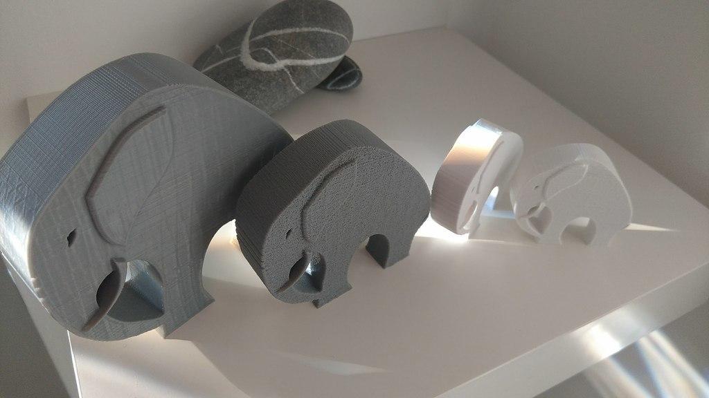 6835dc1e705a5c0db3631c50a0dda490_display_large.jpg Télécharger fichier STL gratuit Élégant éléphant • Objet pour imprimante 3D, 3DME