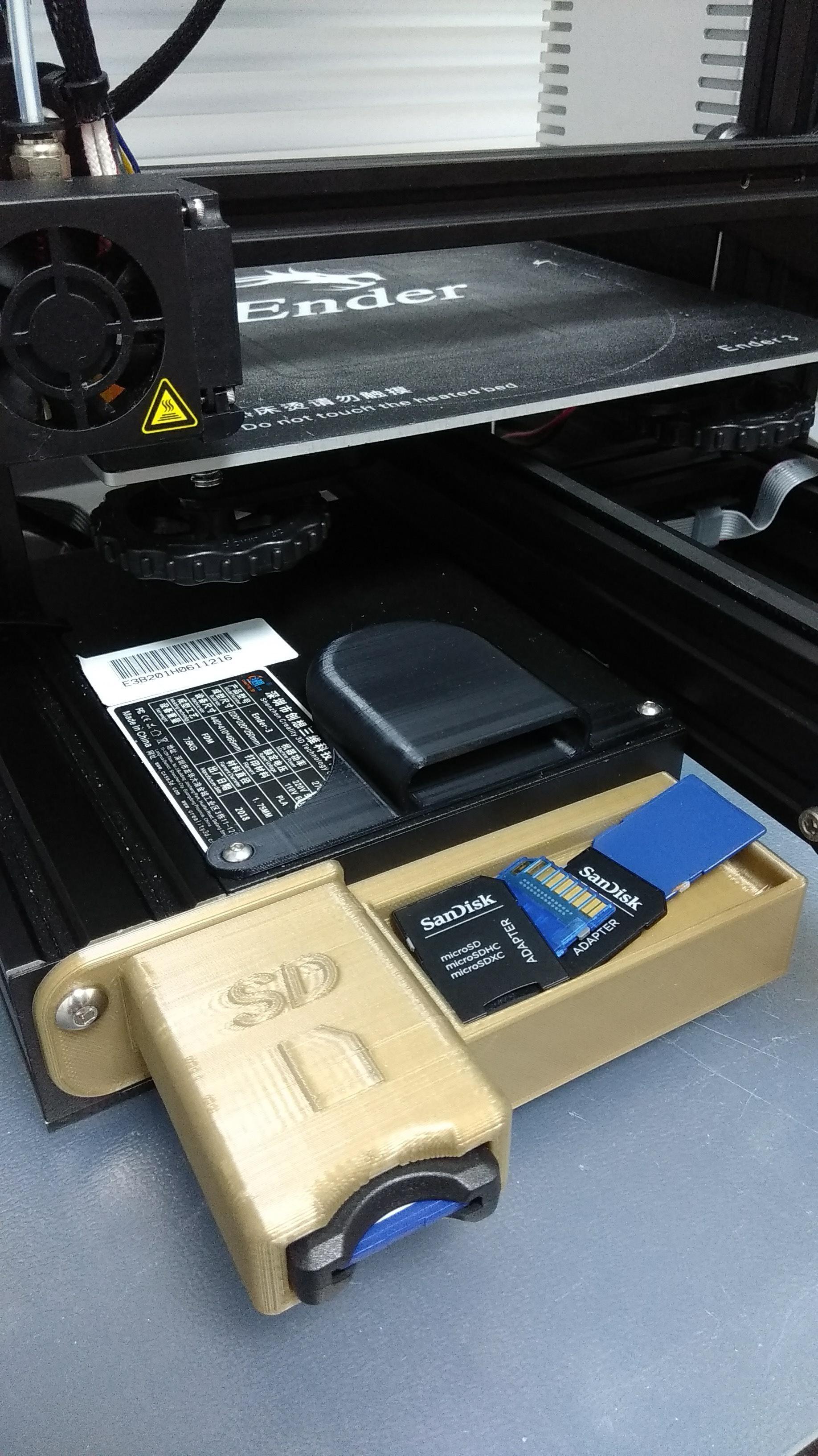 IMG_20181022_201048.jpg Download free STL file Ender 3 MicroSD to SD bracket • 3D printing template, 3DME